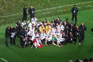 Corinthians Sao Paulo feiern den Klub WM Sieg 2012