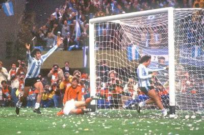 Tor im Finale der Weltmeisteschaft 1978 in Argentinien