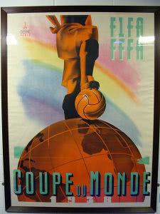 Plakat der Fussball WM 1938 in Frankreich