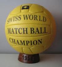 Spielball Weltmeisterschaft 1954 in der Schweiz