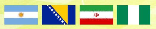 Weltmeisterschaft 2014 Gruppe F mit Argentinien, Bosnien-Herzegowina, Iran und Nigeria