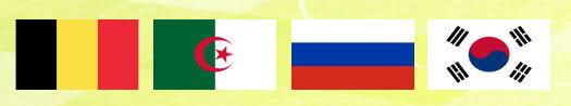 WM 2014 Gruppe H mit Belgien, Algerien, Russland und Südkorea