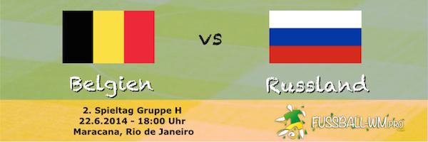 Belgien gegen Russland im Spitzenspiel der WM Gruppe H