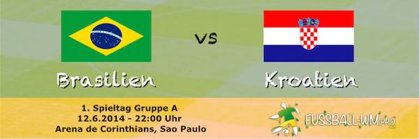 Brasilien trifft am 12. Juni in Gruppe A auf Kroatien