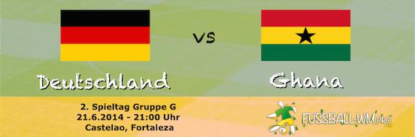 Deutschland trifft bei der WM 2014 in der Gruppenphase auf Ghana