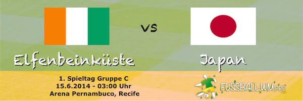 Elfenbeinküste - Japan Gruppe C 15. Juni Weltmeisterschaft