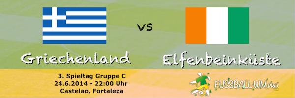 Griechenland - Elfenbeinkueste WM 2014 am 24. Juni