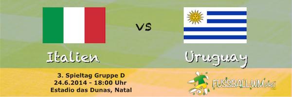 Italien - Uruguay WM 2014 24. Juni
