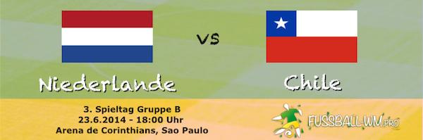 Niederlande gegen Chile 23. Juni WM 2014