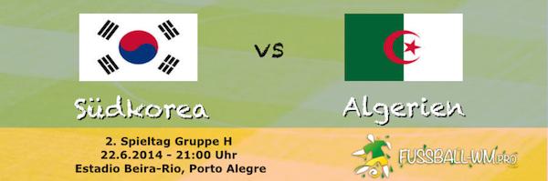 WM 2014 - Gruppenspiel Algerien trifft auf Südkorea