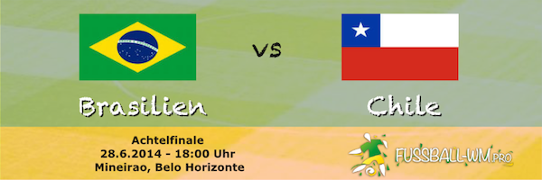 Spielvorschau Brasilien vs Chile - WM 2014 Achtelfinale
