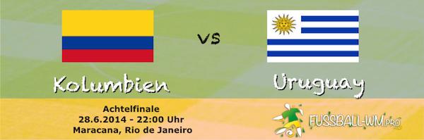 Vorschau Uruguay Kolumbien Achtelfinale WM 2014