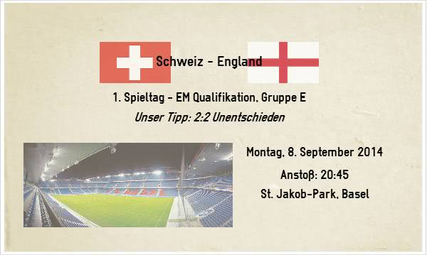 Wett Tipp zu Schweiz gegen England