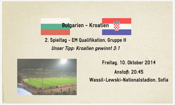 Sport Wetten Tipp zur EM Quali Bulgarien Kroatien