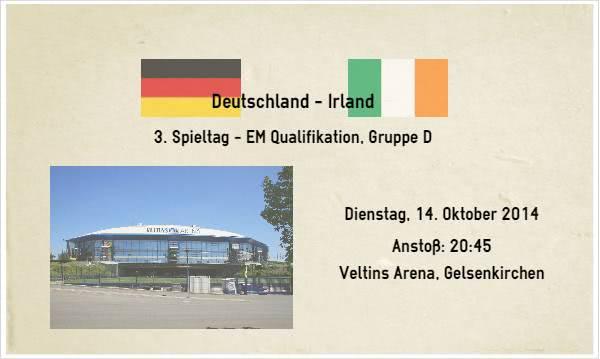 Wett Tipp Deutschland Irland am 14. Oktober