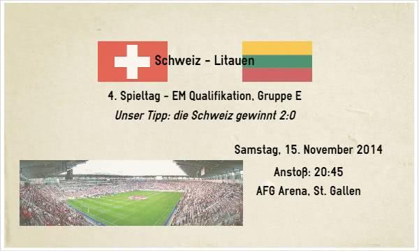 Wett Tipp zu Schweiz Slowenien am 15.11.14