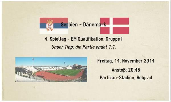 Sportwetten Tipp zu Serbien Dänemark am 14.11.14