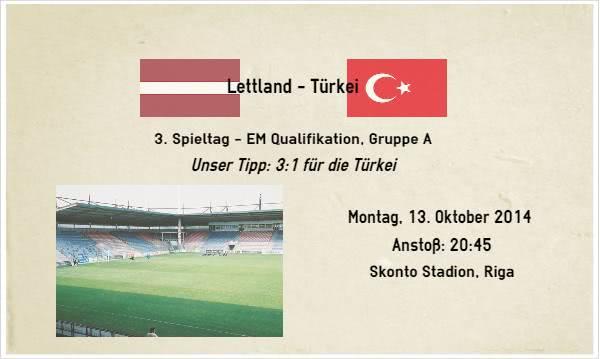 Wett Tipp zu Lettland Türkei Gruppe A
