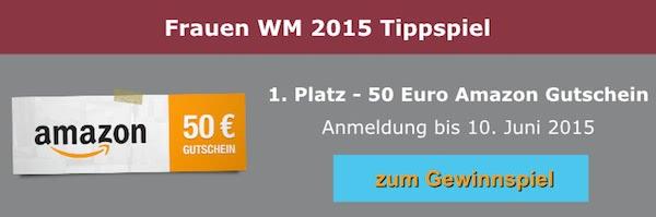 Frauen WM 2015 Gewinnspiel Tippspiel