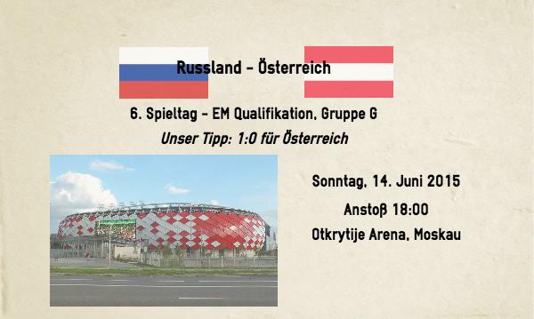 Russland gegen Österreich Wetten Tipp 2015