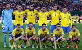 Schweden Teamfoto Fußballmannschaft