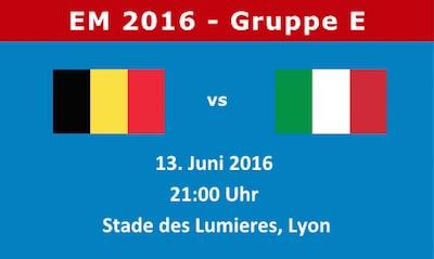Belgien - Italien EM 2016
