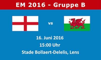 Vorschau zu England vs Wales am 16. Juni 2016