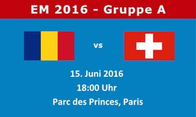 Rumänien Schweiz EM 2016 Vorschau