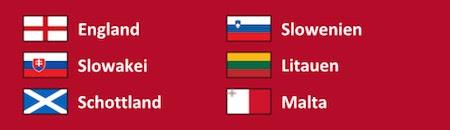 England in WM Quali Gruppe F