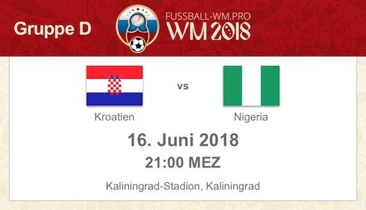 Kroatien gegen Nigeria bei der WM 2018