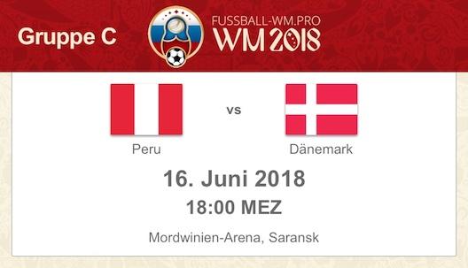 WM 2018 Spielvorschau: Peru vs. Dänemark