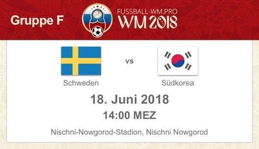 Vorschau zur WM 2018 Gruppe F: Schweden gegen Südkorea