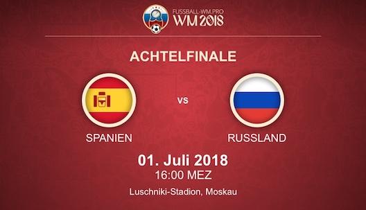 WM 2018 Achtelfinale: Spanien - Russland