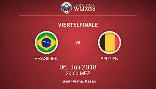 Brasilien gegen Belgien bei der WM 2018