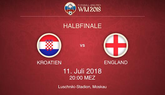 WM Halbfinale Kroatien vs. England Prognose & Wett Tipp
