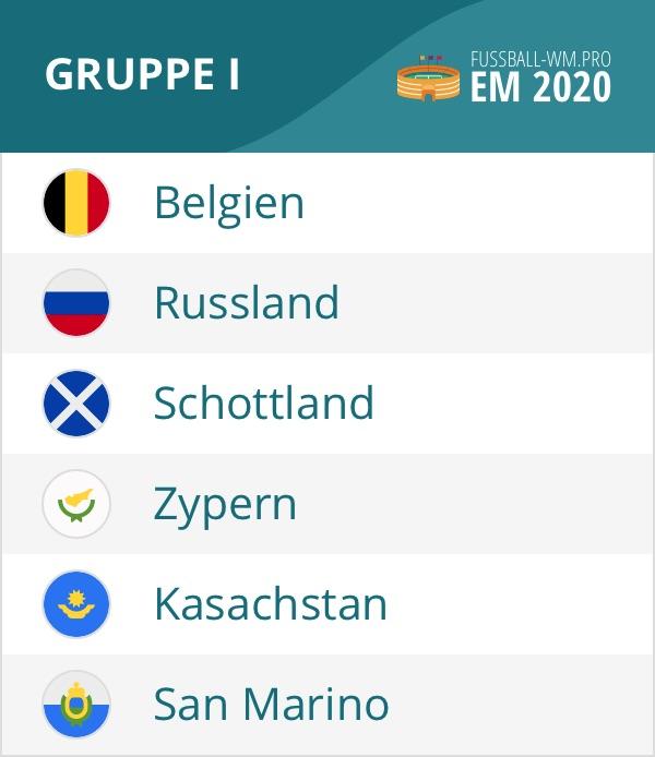 EM 2020 Quali Gruppe I mit Belgien