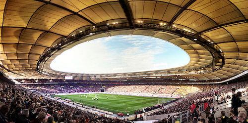 Die Mercedes-Benz-Arena bzw. Stuttgart Arena als Austragungsort der EM 2024 in Deutschland