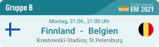 Tipp & Prognose zu Belgien - Finnland