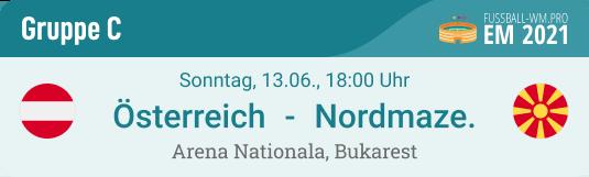Spiel-Prognose & Vorschau für Österreich - Nordmazedonien am 13. Juni 2021 bei der EURO in Gruppe C