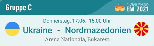 Vorschau und Spiel-Prognose für Ukraine - Nordmazedonien am 17. Juni 2021 in EM Gruppe C