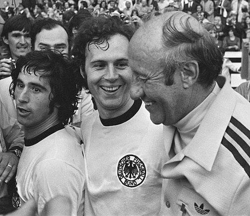 Franz Beckenbauer nach dem WM Finale 1974